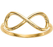 14K Gold Polished Infinity Ring - J376660