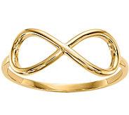 14K Gold Polished Infinity Ring - J376660