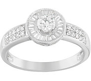 Round & Baguette Diamond Ring, 14K, 2/5 cttw, by Affinity - J376860