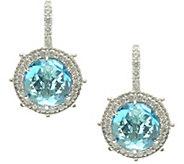 Judith Ripka Sterling Gemstone Lever Back Earrings - J380060