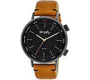 Simplify Black Orange Strap Watch - J380360
