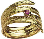 Adi Paz Textured Gemstone Accent Bypass Ring, 14K Gold - J380460