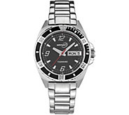 Tourneau Ladies Stainless Black Dial Analog Sport Watch - J380660