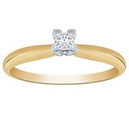 Affinity 14K 1/10 cttw Princess-Cut Solitaire Diamond Ring - J383560
