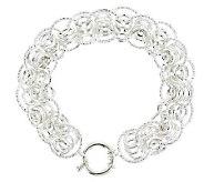 Sterling 7-1/4 Status Circle Link Bracelet, 13.8g - J285761