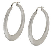 Vicenza Silver Sterling 1-3/4 Satin Finish Round Hoop Earrings - J288261