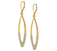As Is Joan Rivers Italian Inspired Drop Earrings with Pave - J296761