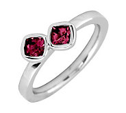 Simply Stacks Sterling Created Ruby Double-Square Ring - J299361