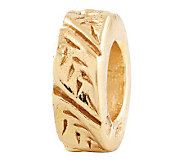 Prerogatives Gold-Plated Sterling Leaf Design Spacer Bead - J302661