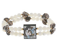 Lee Sands Double Horse Inlay Stretch Bracelet - J302761