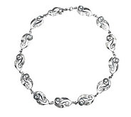 Or Paz Sterling Cultured Pearl Swirling Stations Necklace - J306761