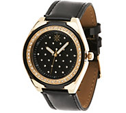 Isaac Mizrahi Live! Strap Watch with Quilted Detail - J320561