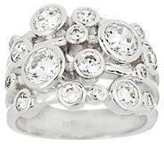 As Is Diamonique 2.25 cttw Bezel Set Bubble Design Ring, Sterling - J321161