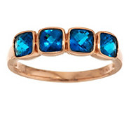 As Is Cushion Cut Exotic Gemstone Stack Ring, 14K Gold - J321661