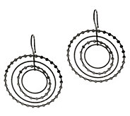 As Is VicenzaSilver Sterling 2-1/4 Cascading Circle Earrings - J322461