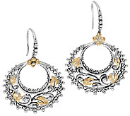 Barbara Bixby Sterling & 18K Vine & Leaf Hoop Earrings - J324261