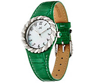 JAI Stainless Steel Croco Texture Leather & Sukhothai Watch - J329261
