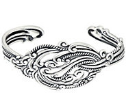 As Is Carolyn Pollack Sterling Silver Signature Knot Cuff, 30.g - J333561