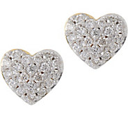 La Soula for Affinity Diamond Mini Heart Sterling Stud Earrings - J333861