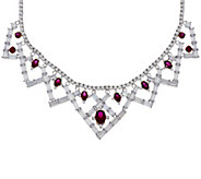 As Is The Elizabeth Taylor 6.40 cttw Simulated Ruby Necklace - J334861