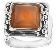 Hagit Sterling Square Carnelian Cabochon Ring - J340561
