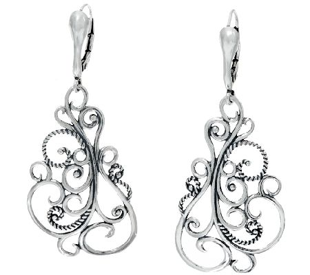 Carolyn pollack signature sterling scroll earriings page for Carolyn pollack jewelry qvc