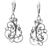 Carolyn Pollack Signature Sterling Scroll Earriings - J342161