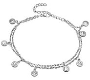 Stainless Steel Crystal Anklet - J342761