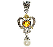 Barbara Bixby Sterling & 18K Citrine & CulturedPearl Enhancer - J343061