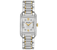 Bulova Ladies Diamond Accent Rectangular Watch - J343961