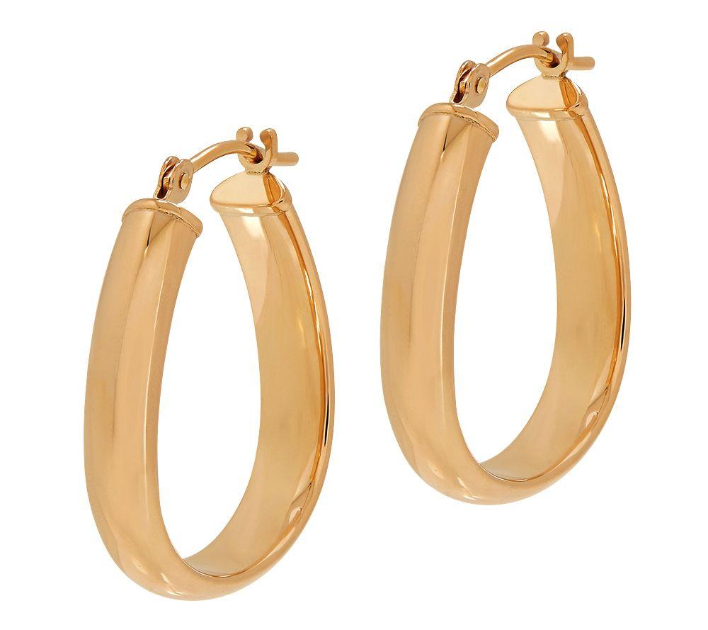 eternagold polished domed hoop earrings 14k gold