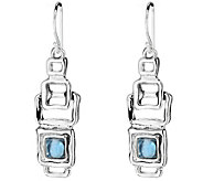Hagit Sterling Silver & Blue Topaz Cabochon Dangle Earrings - J345061