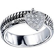 Extraordinary Life Sterling Crystal Heart Ring - J345361