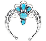 American West Turquoise & Sterling Silver Naja Enhancer - J348461
