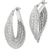 Italian Gold Multi-row Diamond Cut Hoop Earrings, 14K Gold - J349561