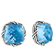 Peter Thomas Roth Sterling Cushion Cut Gemstone Clip-on Earring - J349861