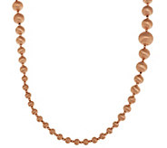 As Is Veronese 18K Rose Gold Clad 36 Graduated Bead Necklace - J350361