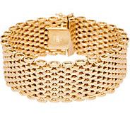 Italian Gold 6-3/4 Bold Panther Link Bracelet 14K Gold, 40.0g - J350961