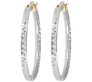 Vicenza Gold 1 Polished & Diamond Cut Hoop Earrings 14K Gold - J374761