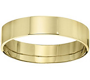 Mens 18K Yellow Gold 5mm Flat Comfort Fit Wedding Band - J375361