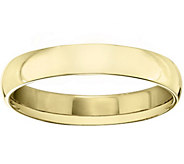 Womens 18K Yellow Gold 4mm Half Round WeddingBand - J375461