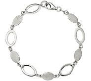 Sterling Polished & Satin Link Bracelet, 4.9g by Silver Style - J375661