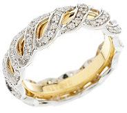 Ritani Diamonique Sterling Anadare Eternity Ring - J146462