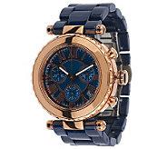 Bronze MOP Chronograph Ceramic Link Watch by Bronzo Italia - J271962
