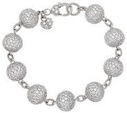 Judith Ripka Sterling & Diamonique Pave Bracelet - J272562