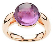 As Is Bronzo Italia Round Cabochon Gemstone Ring - J279462