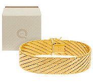 Veronese 18K Clad 8 Diamond Cut Riccio Bracelet - J285662