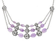 Carolyn Pollack Sterling Signature Bead Rose de France Necklace - J286962