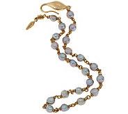 Michael Dawkins 14K and Grey Pearl 20 Wrap Bracelet - J288862