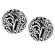 Carolyn Pollack Signature Sterling Button Earrings - J290462